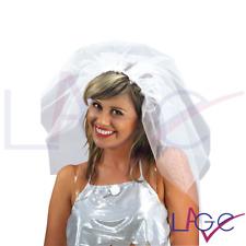 Addio al Nubilato Cerchietto Sposa con Velo in tulle Bianco Accessorio Festa