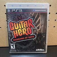 Guitar Hero: Warriors of Rock for PlayStation 3 PS3 2010 Tested Complete