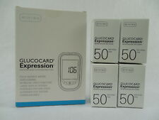 Arkray Glucocard Expression Diabetic test strips 200ct w/Meter ~New ~Free Ship~