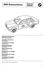 BMW E30 EBA Einbauanleitung el.F.H. elektrische Fensterheber