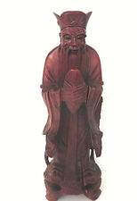 Hand Carved Wood Noble Asian/Chinese Man