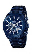 Festina Herrenuhr Uhr Chronograph Armbanduhr Blau Sport Edelstahl F16887/1