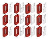 ☀️NEW LEGO 12x White Door Frame 2x4x6 w// Black Door Parts Pieces House City Town