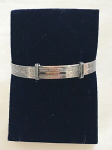 VINTAGE 1960s PURE SILVER BABY BRACELET BANGLE FROM ENGLAND