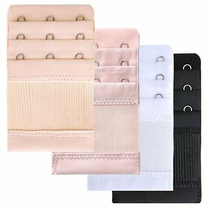 Set Of 4 Bra Extender 3 Hooks with Elastic 3 Rows