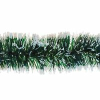 3m Snow Tipped Green Tinsel Garland 6ply Christmas Tree Home Festive Decoration