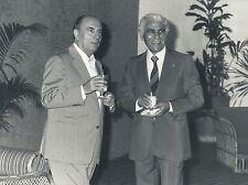 1981 François Mitterrand et Chadli Bendjedid Président Algérien