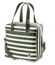 Invicta Shopper Crossbody Bag Green White Stripe NEW
