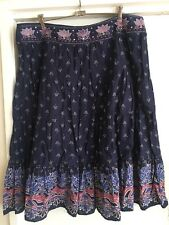 Ladies Navy Blue AUTOGRAPH Skirt Size 18 Summer Hippy Gypsy Full Cotton