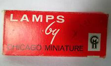Lamps by Chicago Miniature Light Bulbs, 9 Bulbs Nos Flashlight 12V, No. 1803