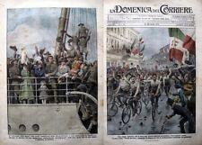 Domenica del corriere 1919-15 I BERSAGLIERI CICLISTI VINCONO LA PAVIA-GORIZIA