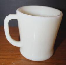 1940's FIRE KING Restaurant OVEN WARE White Milk Glass Coffee Mug EUC D Handle