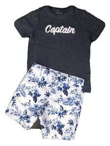 JANIE AND JACK Boys Shirt & Shorts Set Outfit Size 6-7