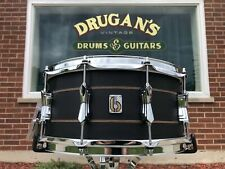 British Drum Company 6.5x14 Merlin Snare Drum 20-Ply Maple/Birch Black Tulip