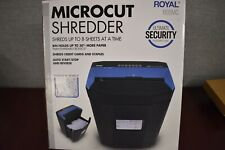 Royal 805mc 8 Sheet Microcut Shredder Jam Free Rollers Automatic Start Stop
