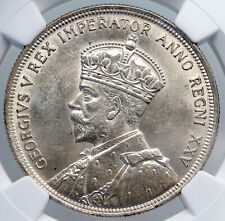 1935 CANADA UK King GEORGE V with Voyagers Genuine Silver Dollar Coin NGC i89261