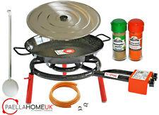 50cm Enamelled Paella Pan +45cm 2Ring Gas Burner Complete Set +PAELLA GIFT