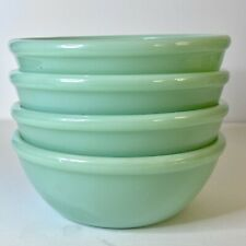 Set/4 VINTAGE FIRE KING JADEITE RESTAURANT WARE 5 1/2 INCH Chili /Cereal Bowl