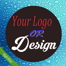LOGO Printed Round Stickers SINGLE - Custom Personalised Business Labels