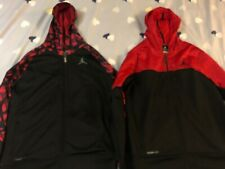 2 Boys Xlarge 18-20 Jordan zip hoodies red and black