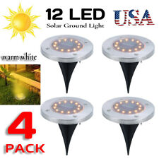 4Pc 8Led 12Led Under Ground Solar Decor Buried Light For Outdoor Garden Path Way