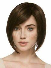 Lace Front Handmade Wig Fashion Glamour Women's Short Dark Brown Straight Wigs