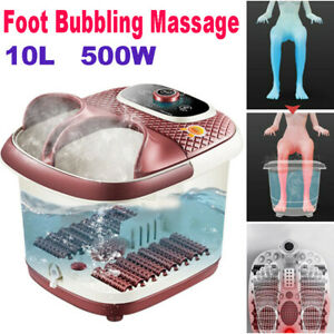 10L Spa Bath Foot Infrared Massager Heated Vibration Bubbles Water Pedicure UK