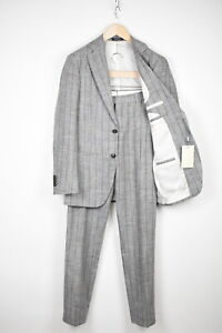 RRP$599 SUITSUPPLY HAVANA PLEATED Men UK36R Silk Linen Blend 2-Piece Suit 15420