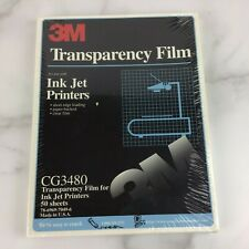 "3M CG3480 Transparency Film for Ink Jet Printers 50 Sheet 8.5"" x 11"" NEW SEALED!"