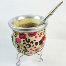 Mate Gourd Cup Bombilla Straw Argentina Weight Loss Detox Diet Tea Drink 32418 !