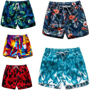 Men Sports Swimwear Short Pants Couple Summer Beach Surf Shorts Quick Dry Trunks