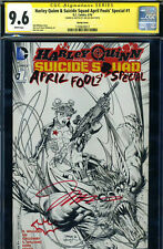 SS CGC JIM LEE SIGNED HARLEY QUINN & SUICIDE SQUAD APRIL FOOLS' SPECIAL VARIANT