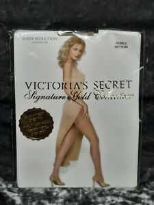 Victoria's Secret Signature Gold Collection Pantyhose *Medium *Pebble
