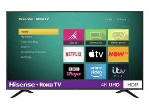 "Hisense R43B7120UK 43"" SMART 4K Ultra HD HDR LED Roku TV Freeview Play C Grade"