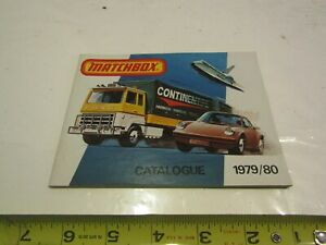 VINTAGE MATCHBOX TOY CAR TRUCK CATALOGUE CATALOG 1979-1980 ADVERTISING GUIDE