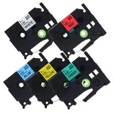 TZe-221 TZe-421 521 621 721 12mm P-touch Label Tape Compatible for Brother 5PK