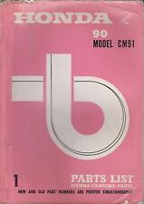 HONDA 90cc MODEL CM91 SUPER CUB ORIG. 1966 FACTORY ILLUSTRATED PARTS CATALOGUE