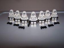 LEGO® STAR WARS minifigure CUSTOM STORM TORSO TROOPER x7 white blaster hood lot