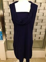 Banana Republic Navy Cowl Neck Sleeveless Dress Size L