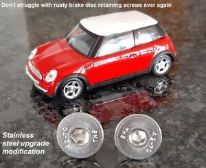 2X Brake Disc Retaining Screw Stainless BMW Mini One Cooper R50 R53 R56 All