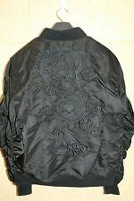 Schott NYC Men MA-1 Nylon Flight Jacket Dragon Sz: L Style 9628