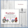 10 x PERSONALISED FAMILY CHRISTMAS PENGUIN CARDS XMAS GREETINGS  WITH ENVELOPES
