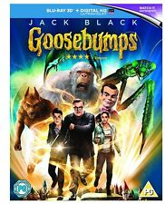 Goosebumps 3D Blu Ray & Standard 2D Blu Ray * NEW & SEALED - FAST UK DISPATCH *