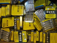 NEW LOT of 50 Vintage Fuses BUSS pigtail 1 Amp  # GJV-1