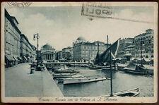 tarjeta postal TRIESTE canal con la iglesia de s.antonio