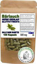 100 Kapseln 280 mg Bärlauch. GEFÄßE KREISLAUF BLUTFETTWERTE GALLE DARM DIABETES