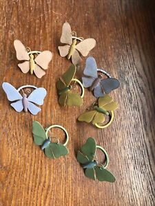 Set of 8 Butterfly Napkin Rings