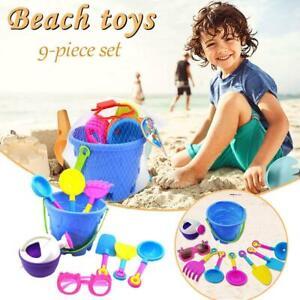 9PCS Beach Sand Toys Soft Rubber Material Sandbox Water Summer