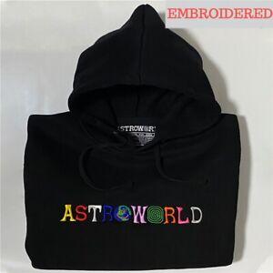 2021 TRAVIS SCOTT Astroworld WISH YOU WERE HERE Embroidered Hoodie Pullover Men