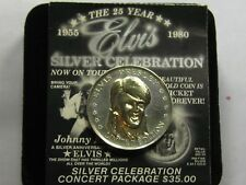 ELVIS PRESLEY THE KING 1955-1980 25 YEAR CELEBRATION 999 SILVER GOLD COIN COA